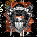 Sweat capuche biker usa eagle