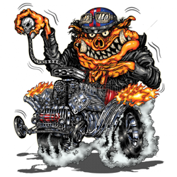 Sweat capuche biker hot rod pig