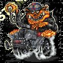 Sweat capuche biker hot rod pig