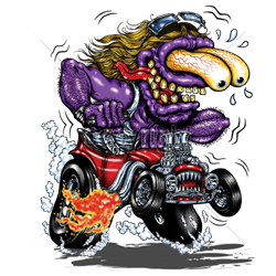 Sweat capuche biker purple monster red hot rod