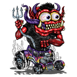 Sweat capuche biker biker red monster purple hot rod