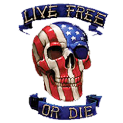 Sweat capuche biker live free or die