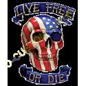 Sweat capuche biker live free or die