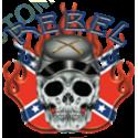 Sweat capuche biker rebel confédéré