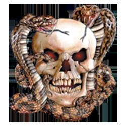 Sweat capuche biker skull snake