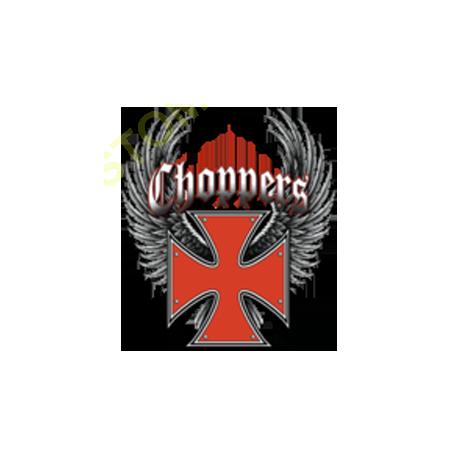Sweat capuche biker croix templier rouge
