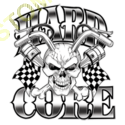 Sweat capuche biker hard core