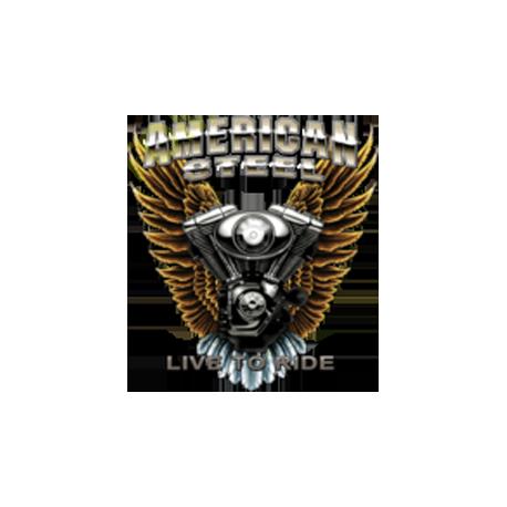 Sweat capuche biker american steel