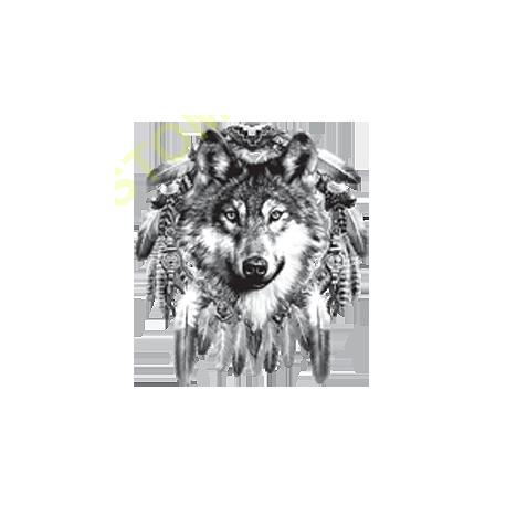 Sweat capuche biker tête de loup