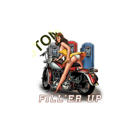 Sweat capuche biker fill'er up