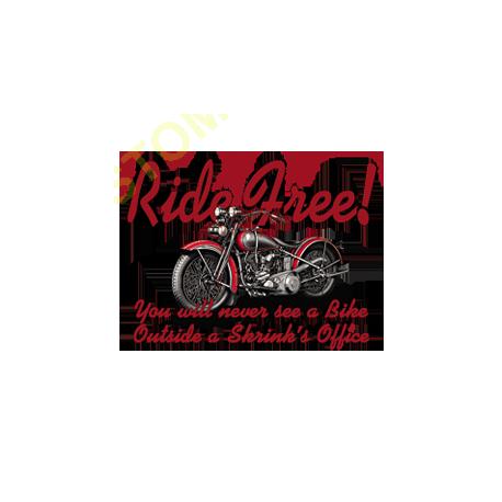 Sweat capuche biker ride free