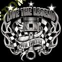 Sweat capuche biker live the legend