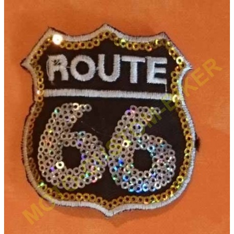 Patch, écusson route 66 strass