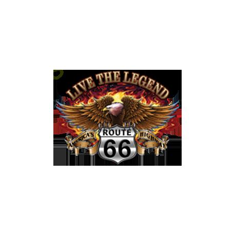 Sweat capuche biker live the legend eagle