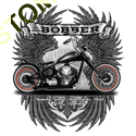 Sweat capuche biker bobber