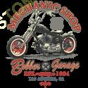 Sweat capuche biker mecanic shop