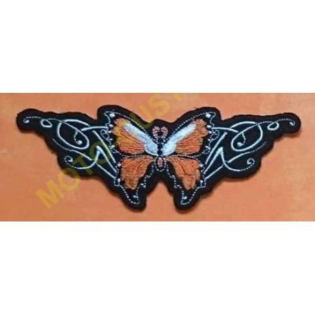 Patch, écusson papillon orange