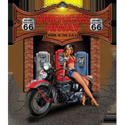 Sweat capuche biker american hiway