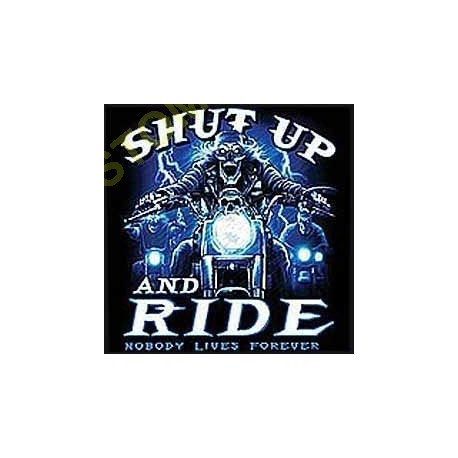 Sweat capuche biker shut up and ride