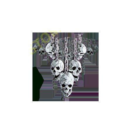 Sweat capuche biker skull chain
