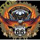 Sweat capuche biker live the legend road 66