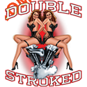 Sweat capuche biker double stroked