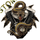 Sweat capuche biker rattlesnake