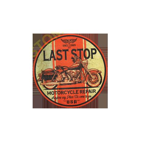 Sweat capuche biker last stop