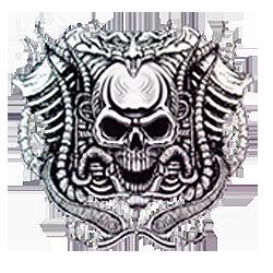 Sweat capuche biker motor skull