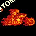 Sweat capuche biker ghost rider