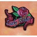 Patch, écusson lady rider rose