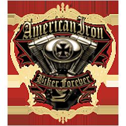 Sweat capuche biker american iron biker