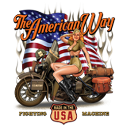 Sweat capuche biker american way babe
