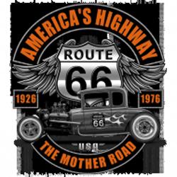 Sweat capuche biker hot rod route 66