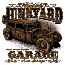 Sweat capuche biker junk yard garage
