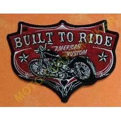 Patch, écusson built to ride
