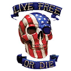 Sweat capuche avec zip live free or die