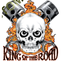 Sweat capuche avec zip king of the road