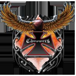 Sweat capuche avec zip eagle choppers