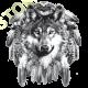 Sweat capuche avec zip tête de loup