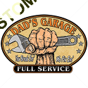 Sweat capuche avec zip dad garage
