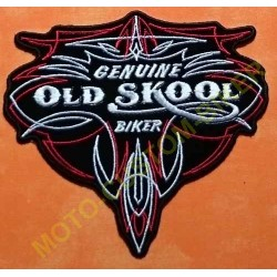 Patch, écusson Genuine Old Skool Biker Pinstripe