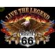 Sweat capuche avec zip live the legend eagle