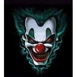 Sweat capuche avec zip clown killer
