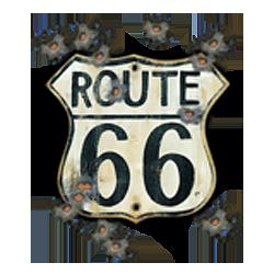 Sweat capuche avec zip old road 66