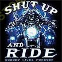 Sweat capuche avec zip shut up and ride
