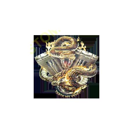 Sweat capuche avec zip motor snake