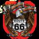 Sweat capuche avec zip america's eagle road 66