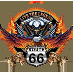 Sweat capuche avec zip live the legend road 66