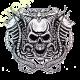Sweat capuche avec zip motor skull